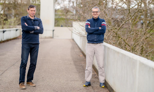 The research teams of Dirk Jancke (left) and Stefan Herlitze worked together on many of the research projects underlying the new approach.